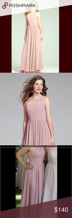 Alfred Angelo Loves First Blush Long Dress Alfred Angelo Bridesmaid Long Dress. Style 7243. Color Loves First Blush. Size 6. The dress was hemmed for my height 5'4 but no other alterations were made. It was dry cleaned after it was worn, which was only once. The total for tax, alterations and dry cleaning makes the dress worth $250. Alfred Angelo Dresses Wedding