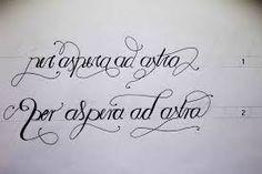 Risultati immagini per per aspera ad astra tattoo script