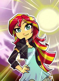 Equestria Girls: Sunset Shimmer con gafas by NekoJackun on DeviantArt