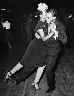 Swingin w/ Lindy (1947)  A couple (Ricky Babbit and Lucy Simms) dancing the Lindy at the Savoy Ballroom in New York.