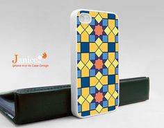 iphone case iphone 4s case iphone 4 cover yellow and by janicejing, $16.99