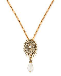 Pearly Star Brooch by Oscar de la Renta at Neiman Marcus.