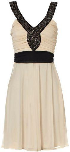 Ivory and Black Dress