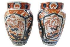 Well, Hello There! | One Kings Lane -antique japanese imari vases pair