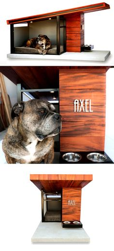 Now, that's a spoiled pet! ;) Give your extended family member a comfy and luxurious home through MDK9 Dog Haus. Check it out==> | MDK9 Dog Haus - A Comfy and Classy Dog House For Your Pooch | http://gwyl.io/mdk9-super-classy-dog-house-pooch/