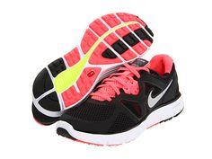 Nike Lunarglide+ 3 Breathe Black/White/Hot Punch/Metallic Silver - Zappos.com Free Shipping BOTH Ways