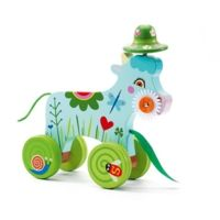 Djeco Smily Wooden Pull Along Cow - - Push & Pull Along - Bright and cheerful Smily Cow is a lovely first wooden pull along toy. This offers a great opportunity for your child to develop their gross motor ski Pull Along Toys, Plan Toys, Wooden Train, Gross Motor Skills, Happy Puppy, Baby Center, Baby Kind, Own Home, Dog Toys
