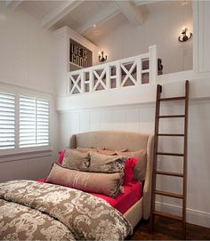 If kids have to share a room, it's nice to give them their own distinct spaces. Built-in bunks give them a defined space better than just bunk beds.