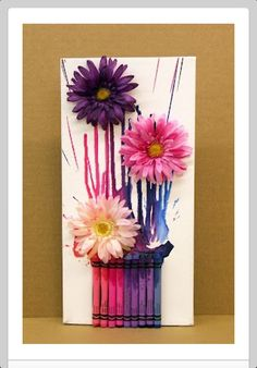 Adorable melted crayon bouquet!