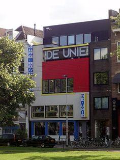 Café De Unie, Rotterdam, 1925, J.J.P. Oud, Theo van Doesburg