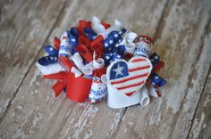 4th of July Loopy Bow by LittleGemsbyJenT on Etsy, $10.00