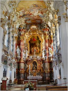 Inside Wieskirche in Steingaden, Bavaria, Germany ~ Was added to the UNESCO World Heritage List in 1983 71077254 panoramio by Rikimer