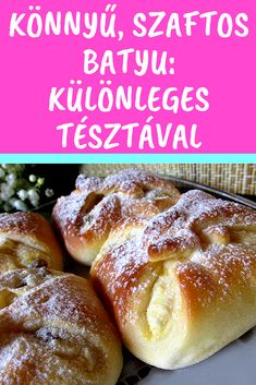Különleges tésztával #batyu #túrós Cookie Desserts, Cookie Recipes, Hungarian Recipes, Bread And Pastries, Cakes And More, Food To Make, Chicken Recipes, Sweet Tooth, Bakery
