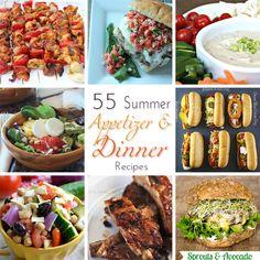55 Summer Appetizer  Dinner Recipes www.kleinworthco.com