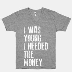 """I was young"" tee"
