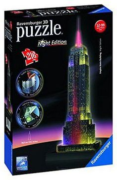 Ravensburger puzzle 3D empire state building with lights (216 τεμ.)