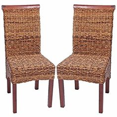 2x Dining Chairs, Wicker Chair, Chair M45, Banana braid, bright without cushion: Amazon.co.uk: Kitchen & Home