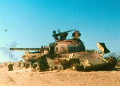 Wrecked remains of Egyptian T-54 Mod.1951 Yom Kippur War.