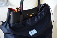 black tote #bag :: #Prada