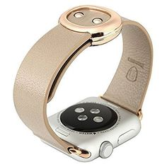 Apple Watch Band, Baseus Apple Watch Band Modern Buckle Soft Geniune Leather Strap with Metal Clasp for Iwatch 38mm (38MM khaki) Baseus http://smile.amazon.com/dp/B015DWEJDI/ref=cm_sw_r_pi_dp_v.RCwb1E9JXDH