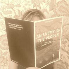 The Secret Victorianist with the programme for Ibsen's An Enemy of the People in Dublin