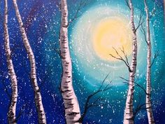 Windy Moonrise - Step by Step Acrylic Painting on Canvas for Beginners - YouTube