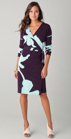 Kinaya wrap dress - Diane von Furstenberg. Her wrap dresses are a classic.