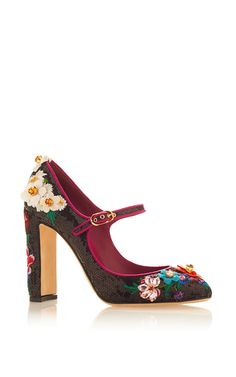 Black & Pink Mary Jane Pump by DOLCE & GABBANA for Preorder on Moda Operandi