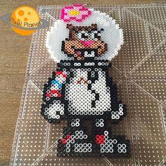 Sandy Cheeks (SpongeBob) perler beads by pixel_planet_