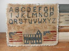 alphabet sampler - americana