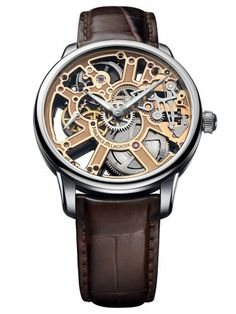 Maurice Lacroix MP7228-SS001-001 Masterpiece Mechanical Skeleton Watch For Men