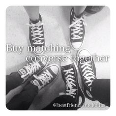 I've never had a pair of converse but they look cool :) Dear Best Friend, We Are Best Friends, Best Friend Goals, Bff Pictures, Cool Pictures, Bucketlist Ideas, Best Friend Bucket List, Good Buddy, Bff Goals