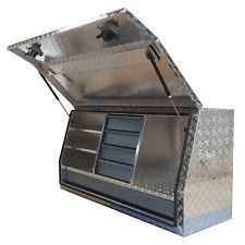 1400x505x705mm Heavy Duty Aluminium Toolbox Ute Truck Tool Box Storage 5 Drawers  sc 1 st  Pinterest & Aluminum Cross Tool Boxes | Flatbed truck ideas | Pinterest | Box ...