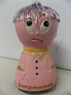 1960s Era Moody Mary Pink Coin Bank I Am by PfantasticPfinds, $14.99