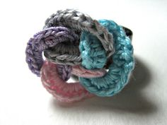 Statement Ring   Interlacing Crochet Rings  by ShuvalAccessories