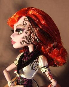 repainted Operetta Monster High Doll as shown in the above pictures
