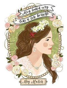 Jane Austen, Illustration Botanique, Illustration Art, Little Women Quotes, Meg March, Japanese Poster Design, Women Poster, Poster Design Inspiration, Fanart