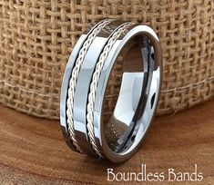 Tungsten Ring Double Braided Any Design Wedding Band Customized High Polished Laser Engraved Ring Unique New Modern Classic Band Mens Ring Wedding Men, Wedding Rings, Trendy Wedding, Tungsten Carbide Rings, Tungsten Wedding Bands, Ring Verlobung, Engraved Rings, Black Rings, Anniversary Rings
