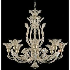 Schonbek Rivendell 8 Light Crystal Chandelier Finish: Heirloom Gold, Crystal Color: Strass Clear