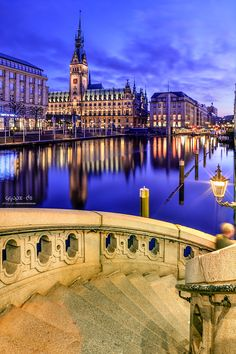 Glowing Lights of Hamburg, Germany