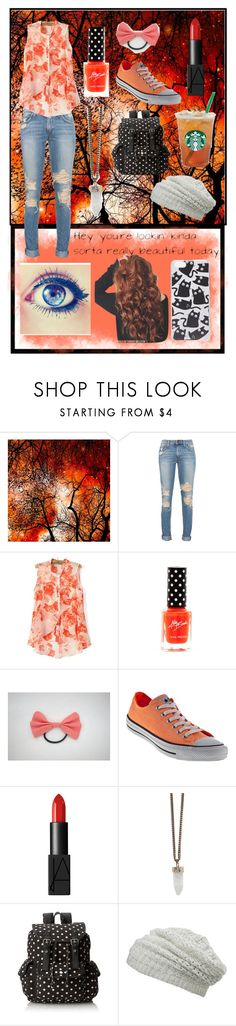 """""""Rainbow tag: Orange"""" by madelynnlove ❤ liked on Polyvore featuring Converse, NARS Cosmetics, Givenchy, Wild Pair, maurices and Skinnydip"""
