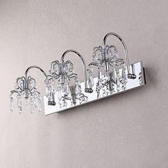 "Possini Euro Design Crystal Strand 25 34"" Wide Bath Light Prepossessing Crystal Vanity Lights For Bathroom Decorating Design"