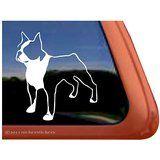 Boston Terrier Dog Vinyl Window Auto Decal Sticker