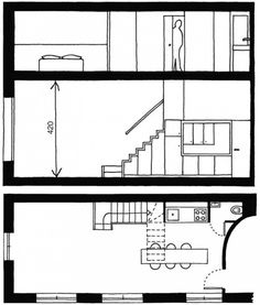Space Saving 06 Kitchen, built in under the stairs space. Ideas for interior design stairs kitchen INTERIOR DESIGN HOUSING France DESIGN