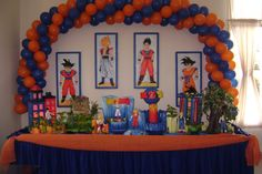 Dragon Birthday, Ball Birthday, Dragon Party, Baby Boy 1st Birthday, 10th Birthday Parties, Birthday Ideas, Naruto Birthday, Dbz, Cupcake Toppers
