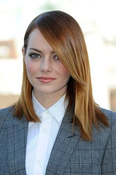 Emma Stone has proven time and time again that she'd go to great lengths for a movie role by switching her hair. The Oscar-nominated actress ditched her natural blonde locks for her first featu...