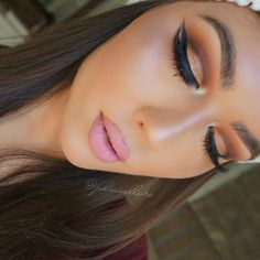 """""""Love this look I did  .  Lips: @sunnaclaorecosmetics lipstick in """"Supermodel"""" (one of my faves!!.. Use the code """"julia"""" to get a discount site wide) Lip…"""""""