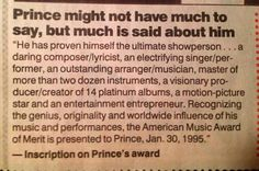 Prince.  There will never be another like him!  :-(