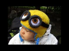 Minion sapka egyéni méretre - Minon cap custom sizes tutorial - YouTube