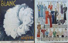 "Blanc Au Louvre Paris Excellent ""Freeze Frame"" About Fashion In Paris In The 30s de Jean Droit. (Handtekening links naast BLANC in hoek)"